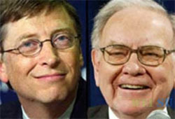 Gates and Buffett Seek 'Fathers of All Nations' Title
