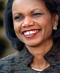 Rice: ending Israeli-Palestinian conflict a top priority for Bush