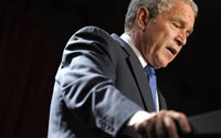 Bush claims progress in Iraq campaign. Again
