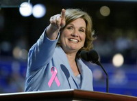 Elizabeth Edwards tries not to think much of cancer