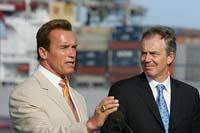 Blair, Schwarzenegger hold Downing Street talks on environment
