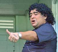 Maradona taken by ambulance to clinic for excessive eating, drinking and cigars