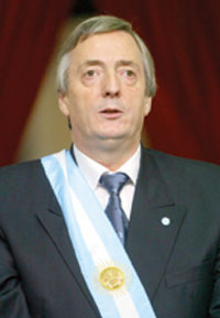 Argentina's president Nestor Kirchner relishes lame duck role