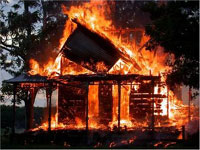 Malaysian man sets fire to house but burns down entire village