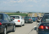 People driving into USA from Mexico and Canada spend hours in lenghty lines
