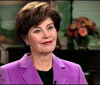 Laura Bush cautions Americans to speak carefully when debating Iraq