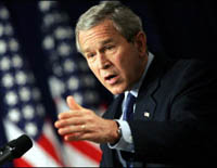 George Bush joins in criticism of Russia