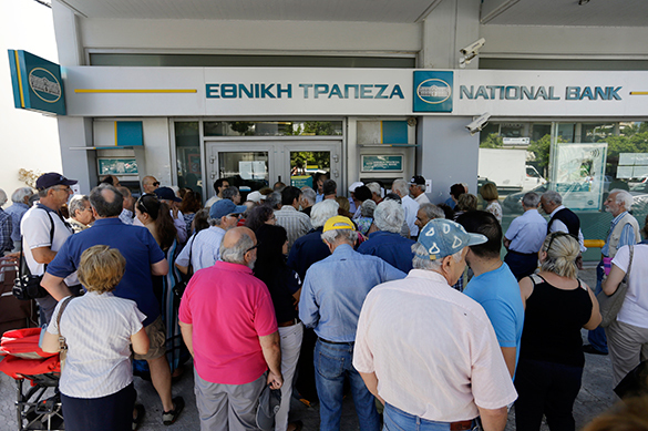 Greek banks are open, no money to get. Greece
