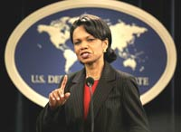 Condoleezza Rice wants Egypt to help in regulation of conflict between Israel and Palestine