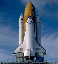 Shuttle Atlantis Docks at International Space Station