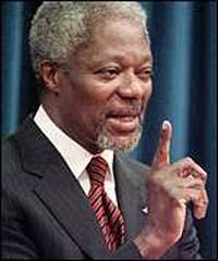 Kofi Annan hopes his successor is female