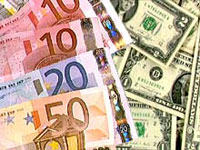 Euro lower against U.S. dollar