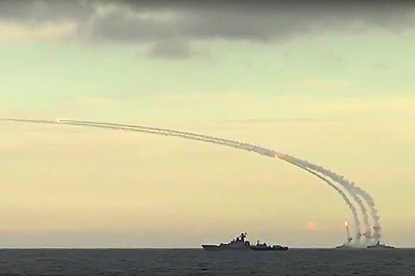 Russia's Caspian Flotilla holds drills to respond to nuclear threat. Caspian Flotilla fires missiles