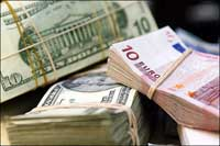 Euro up, barely, against U.S. dollar after U.S. holiday