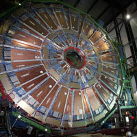 Protons Smash Head-on at Hardon Collider, Release Massive Energy