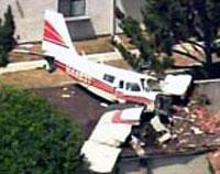 Small plane crashes into California homes