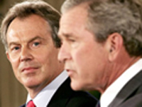 Bush and Blair try to move on