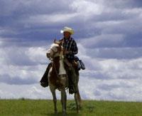 US rancher rides on horseback across America