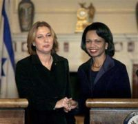 Rice and Livni to meet in Israel