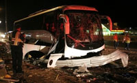Three critically injured in bus crash near Olympic village in Beijing