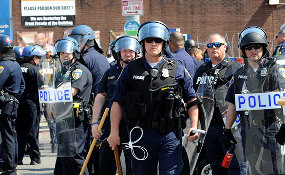 Obama deploys troops in revolting North Carolina. US police