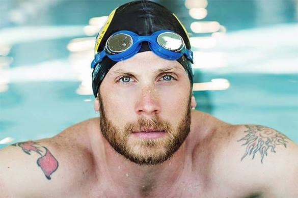 James Lawrence swims, cycles and runs over 50 States in 50 days. Lawrence