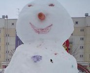 Snowman stops passenger train traveling from Moscow. 46890.jpeg