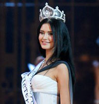 Eighteen-year-old model wins Miss Russia contest
