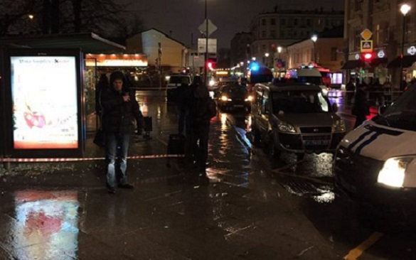 Explosion in Moscow center: Bomb thrown at people at bus stop. Moscow bus stop explosion