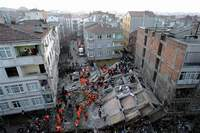 Apartment building collapses in Turkey, killing one