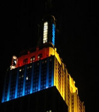 Empire State Building shines with Olympic spirit