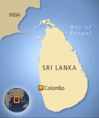 Sri Lankan police truck hit by explosion: 2 policemen killed