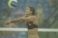 Pouring rain in Beijhing delays Olympic events
