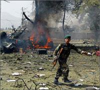 Suicide Bombers Strike Afghan city