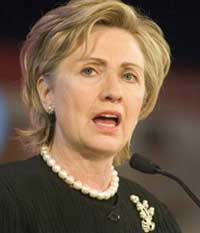 Clinton wants to cap troops in Iraq, increase troops in Afghanistan