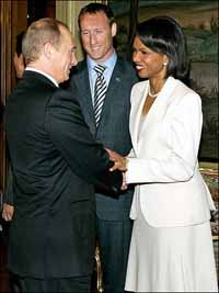 Condoleezza Rice wins her talks with Putin