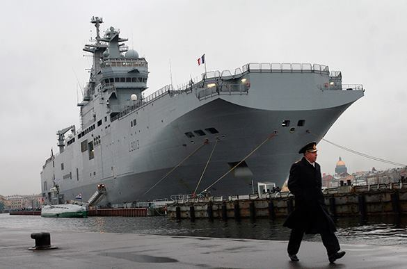 Russian Mistral goes to the Bay of Biscay. Mistral