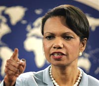 Rice meets with entire Palestinian Cabinet in gesture of support