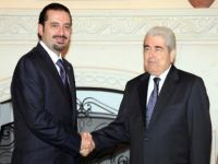Cypriot and Lebanese leaders shake hands