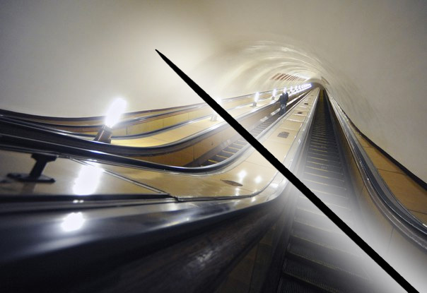 Moscow metro passengers injure fingers on needles in escalator handrails. 58920.jpeg
