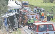 Serbian bus crashes in Hungary, one dead, at least 17 injured