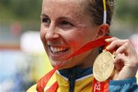 Australia's Emma Snowsill runs to Olympic gold in triathlon