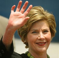 Laura Bush visits Zambia to highlight U.S. efforts to combat disease