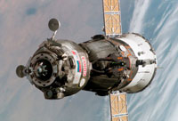 Unmanned Russian Cargo Ship Docks to ISS