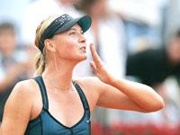 Sharapova reaches semis winning all-Russian battle