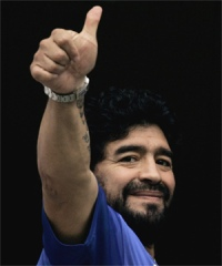 Maradona's health improves