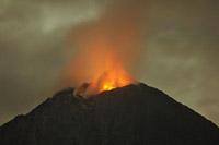 Mayon volcano calms down