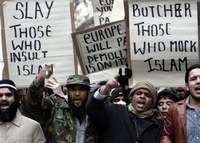 Crowds of infuriated Muslims pogrom EU diplomatic buildings to protest Prophet Muhammad cartoons