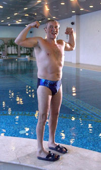 Kiev mayor strips down to his speedo in public to prove he is not crazy