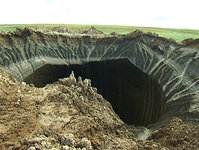 Giant sinkhole in Siberia turning into lake. 53942.jpeg
